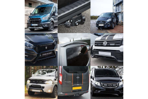 All variants of the 5 van accessories for winter 2021