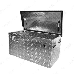 220 Litre Aluminium Chequer Plate Tool Box - L720mm X W520mm X H645mm