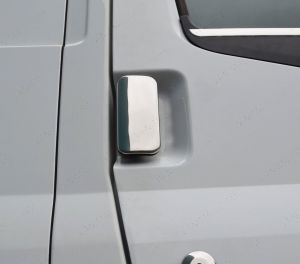 Stainless Steel Door Handle Protectors 2drs inc Lock Cover for Ford Transit