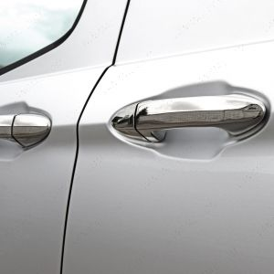 Ford Transit Courier 2014 On Chrome Door Handle Protectors 4dr