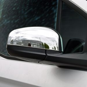 Ford Transit Courier 2014 On - Chrome Door Mirror Trims