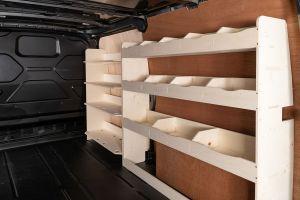 Ford Transit Custom L2 LWB Full Driver Side Racking and Shelving (Front Festool) V5