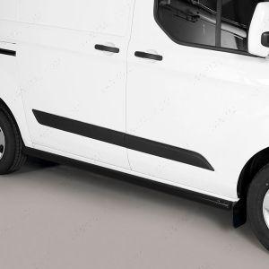 Ford Transit Custom 2018 On Black Side Steps - No Treads