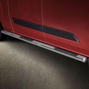 76mm Side Bars Stainless Steel For Ford Transit Custom 12 On LWB