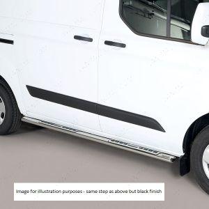 Ford Transit Custom 2012- Stainless Steel Side Steps