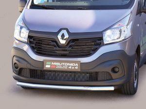 Renault Trafic Mk3 Polished Bumper Splitter Styling Bar 2014-