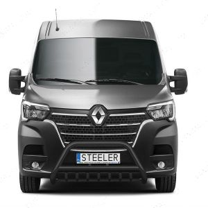 Renault Master Black Front A-Bar with Axle Guard 2019-