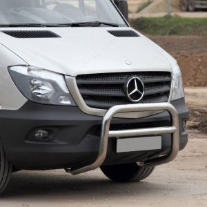 Mercedes Sprinter 2006 Onwards Front Nudge A-Bar Stainless Steel