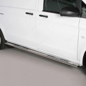 Mercedes Vito W447 SWB Polished Side Steps 2014-