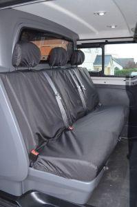 Vauxhall Vivaro Crew Cab Tailored Rear Seat Covers 2014-2019