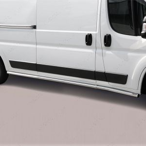 Peugeot Boxer LWB Polished Stainless Steel Side Bars Misutonida