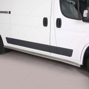 Peugeot Boxer MWB  Polished Stainless Steel Side Bars Misutonida