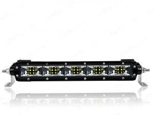 "10"" LED Predator Vision Flood Single Row Scene Light Bar 50w"