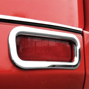 Ford Transit Custom 2012 On - Stainless Steel Rear Bumper Reflector Rims