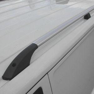 VW Transporter T5 T5.1 T6 T6.1 SWB Silver Alloy Roof Rails V2 2003-