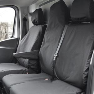 Nissan NV300 Tailored seat covers - Folding Middle Seat & Underseat Storage