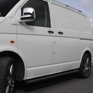 VW Transporter T5 T5.1 SWB Black Side Bars