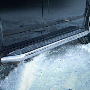 VW Transporter T5 SWB Polished Side Steps 2003-2010