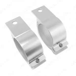 """Alloy Spot Light Brackets 3"""" Inch Tubular Bar Fitting (Pair Of 76mm Clamps)"""