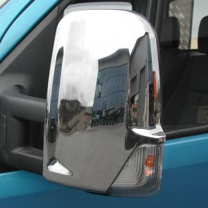 Mercedes Sprinter Mk3 Mirror Protector Covers Stainless Steel