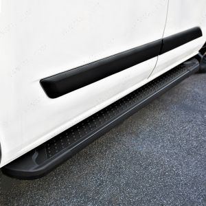 Ford Transit Custom LWB Black Side Steps