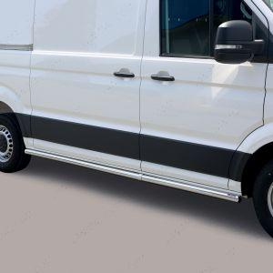 Volkswagen Crafter 2017 Onwards Medium Wheel Base Polished Stainless Steel Side Bars