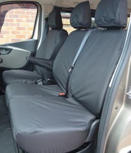 Fiat Talento Tailored Front Seat Covers - Three Head Rests 2016-