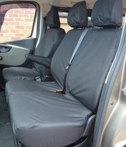 Vauxhall Vivaro Front Seat Covers - Three Head Rests 2014-2019