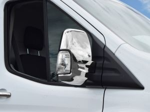 Ford Transit Mk8 2014 On Chrome Mirror Protector Covers