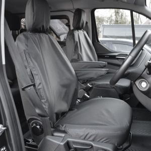 Ford Transit Custom Tailored Waterproof Captain Seat Covers (Two Single Seats) 2012-