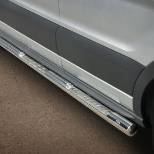 76mm Side Bars Stainless Steel For LWB L2 Ford Transit 2019 On