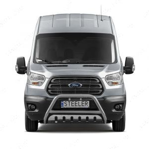 Ford Transit MK8 2014 On 70mm Front Protector Nudge A-Bar Stainless Steel