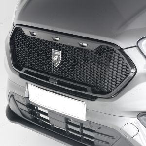 Predator Mesh Grille for Ford Transit Custom in Matte Black