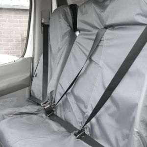 Universal Grey Seat Cover Set Single + Twin For All Vans And Years