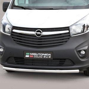 Vauxhall Vivaro Polished Bumper Splitter Styling Bar 2014-2019
