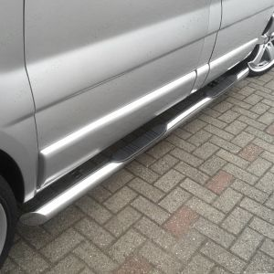 Nissan Primastar Swb Stainless Steel Side Bars + Step