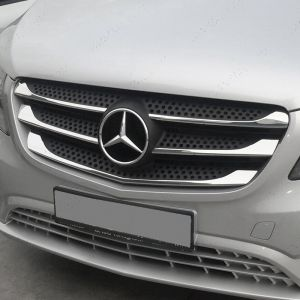 Mercedes Vito W447 2014 On 5 Pce Grille Trim Kit Stainless Steel