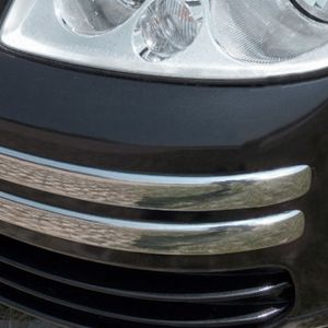 VW Caddy Mk3 Stainless Steel Front Bumper Corners Trim 2004-2010