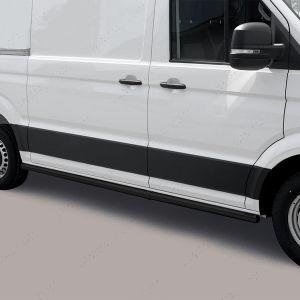 Volkswagen Crafter 2017 Onwards Medium Wheel Base Side Bars In Black