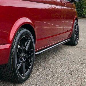 Black Side Bars for VW Transporter T5 T5.1 T6 T6.1