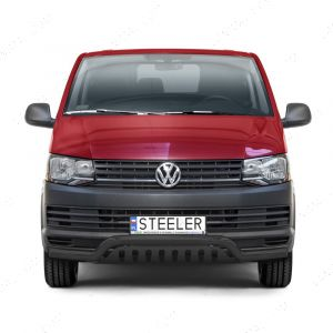 Black Low Spoiler A-Bar with Axle Plate for Volkswagen Transporter 2015 -2019