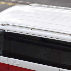 VW Transporter T5 T5.1 T6 T6.1 LWB Stainless Steel Roof Rails 2003-