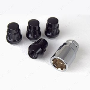 Locking Wheel Nuts Set of 4 (12mm X 1.5mm) - Black