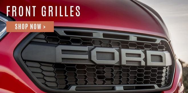 Front styling grilles for commercial and non-commercial vans