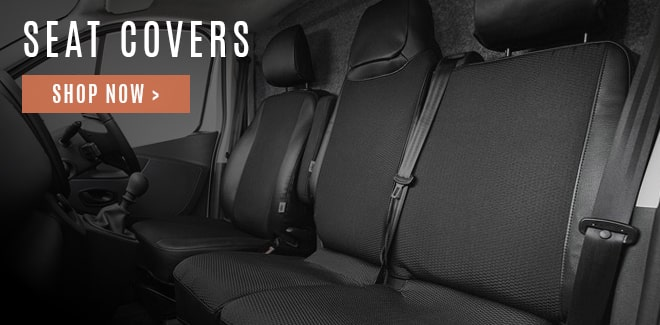 Tailored car seat covers for commercial vans